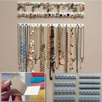 9 In 1 Adhesive Paste Wall Hanging Storage Hooks Jewelry Display Organizer Necklace Hanger