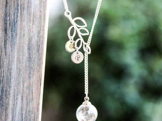 Real dandelion Necklace personalised necklace by RafFinesse