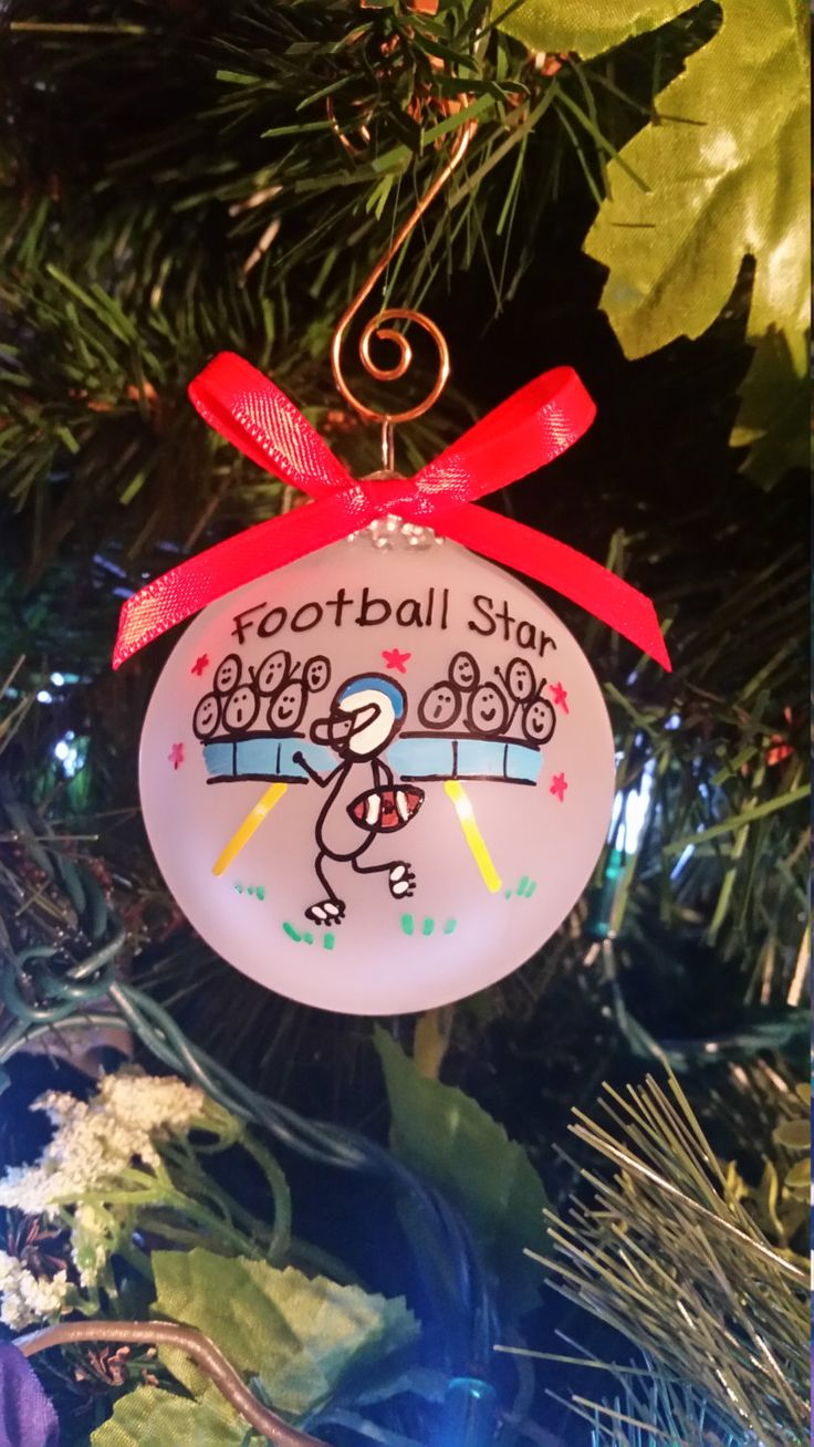Football player ornament - Football Ornament Gift For Football Player Personalized Custom Christmas Ornament High School Football Football Player Gift Foot Ball