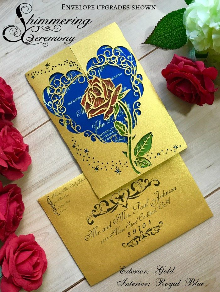 Beauty And The Beast Inspired Rose Gate Invitation In 2019