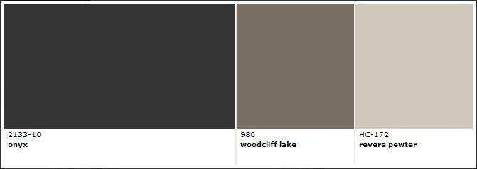 Benjamin Moore Onyx Woodcliff Lake Revere Pewter Decor