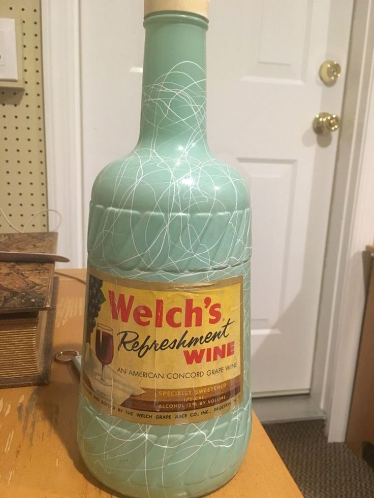 Vintage 1955 WELCH'S Refreshment Wine Bottle With Label Brocton NY Made In USA | Collectibles, Bottles & Insulators, Bottles | eBay!