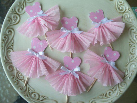 Ballerina Cupcake Toppers $
