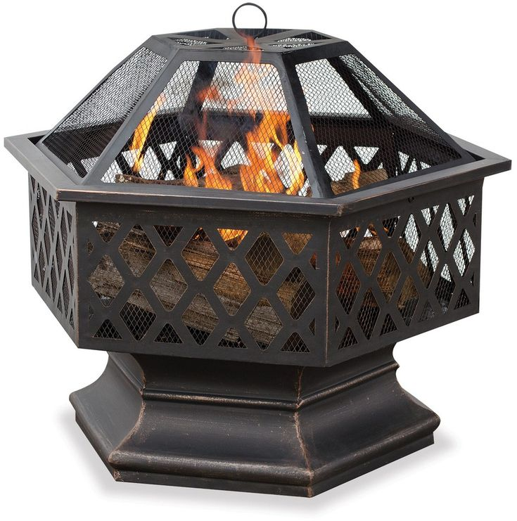 "PatioProductsUSA | Endless Summer - 24"" Outdoor Wood Burning Fireplace"