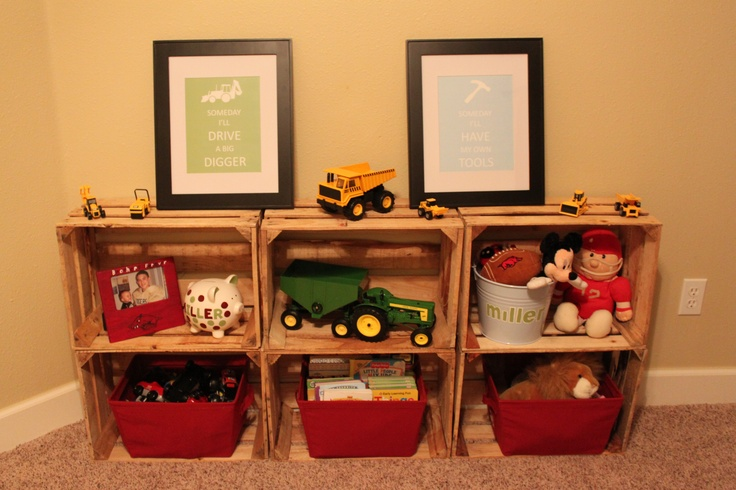 17 best ideas about wood crate shelves on pinterest diy for Shelves made out of crates