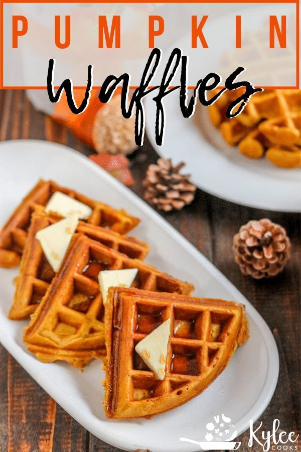 Using just 2 bowls, make these homemade Pumpkin Waffles a part of your Fall breakfast tradition. With warm spices and yummy pumpkin, they're a must ma...