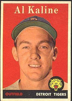AL Kaline. Detroit Tigers. 1958 Topps Baseball Card