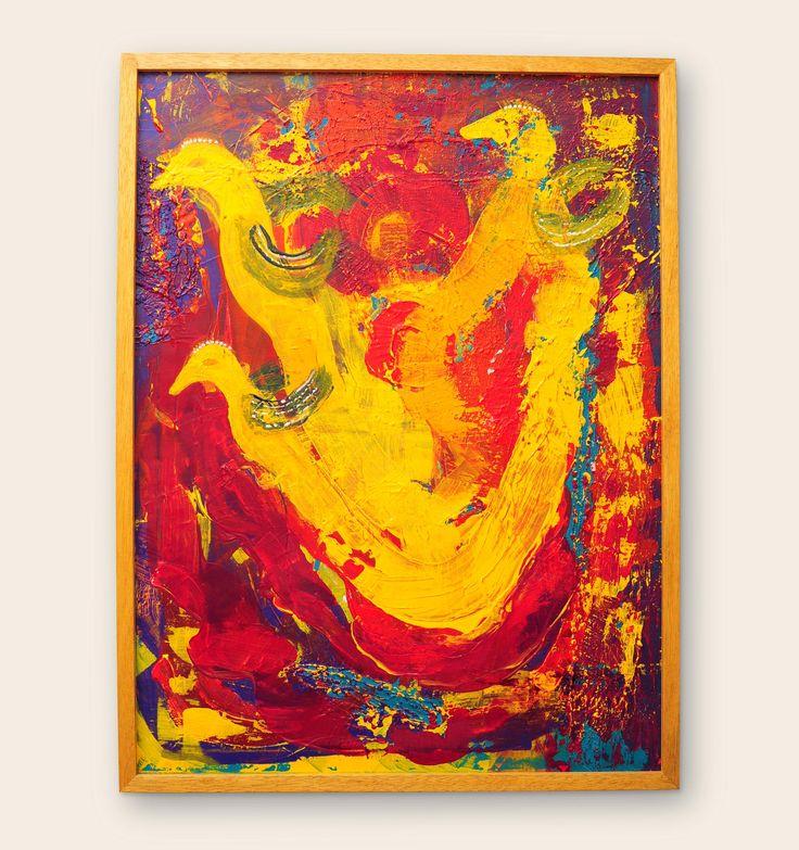 Re-plantearse Atascados en el placer de no surgir.  Medidas: 60 x 80 | Técnicas: Acrílico sobre tela. #pintura  #subconsciente