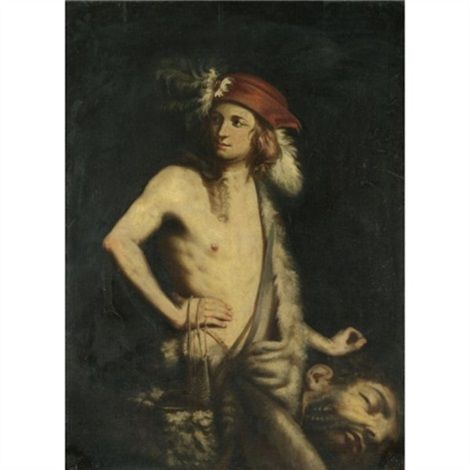 David with the Head of Goliath by Guido Cagnacci
