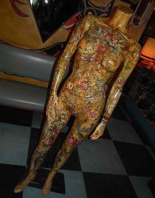 decorated mannequin...not this kind of decorating...but mod podge something cool.