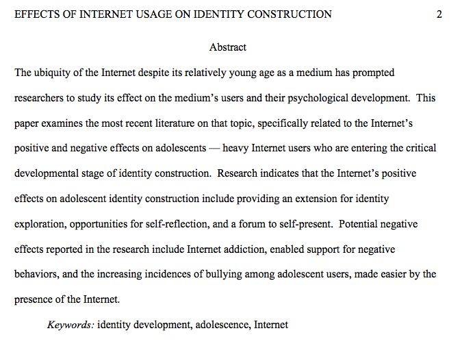 the internet and its effects on human identity According to sidaway, while most of us are much more aware of the risks now ( my mum shreds her documents even if she doesn't know why,.