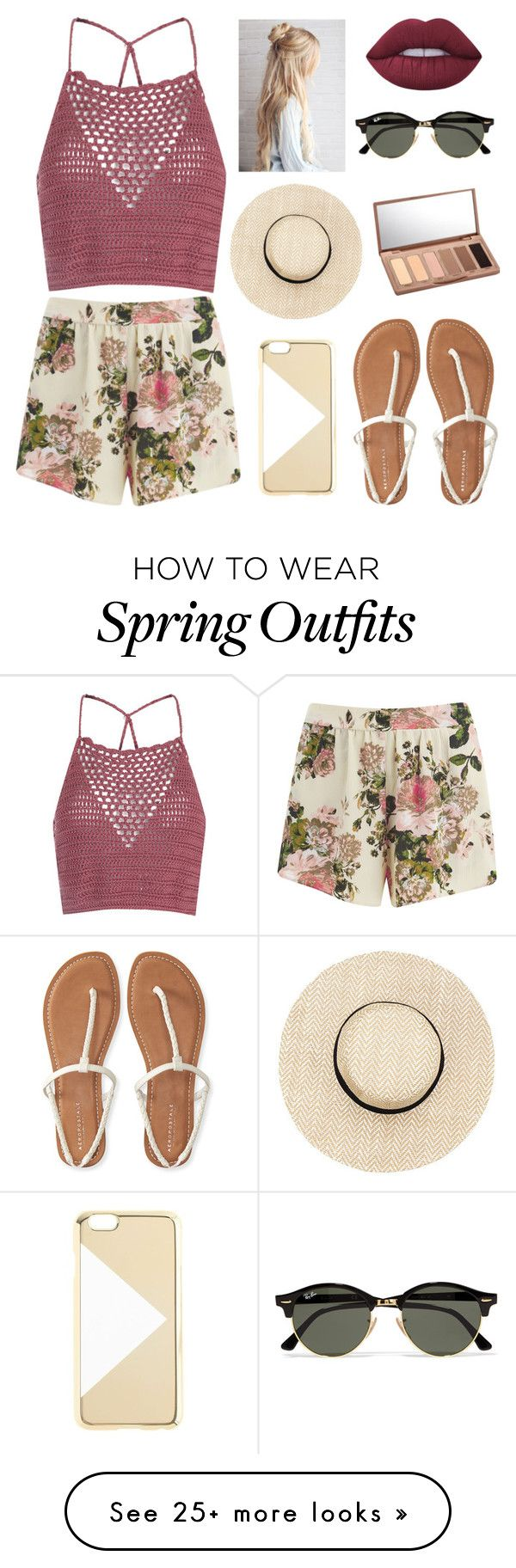 """Dream Outfit #43"" by luv2act68 on Polyvore featuring VILA, Glamorous, Lime Crime, Ray-Ban, Urban Decay, J.Crew and Aéropostale"