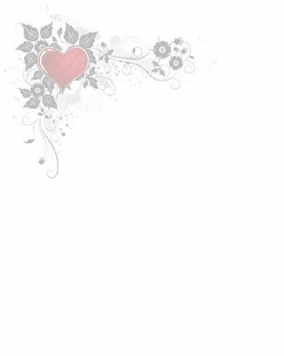 Heart Flowered Corner Bos Printable Frames Etc