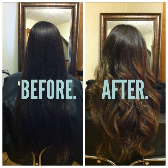 My new ombre hair! Brunette brown ombré