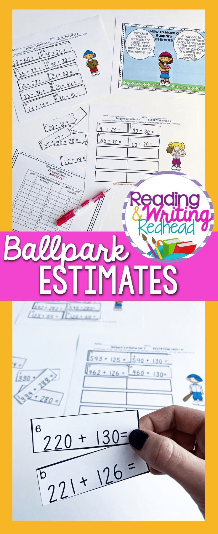 hight resolution of Ballpark Estimate Practice with Rounding and Estimates   Everyday math