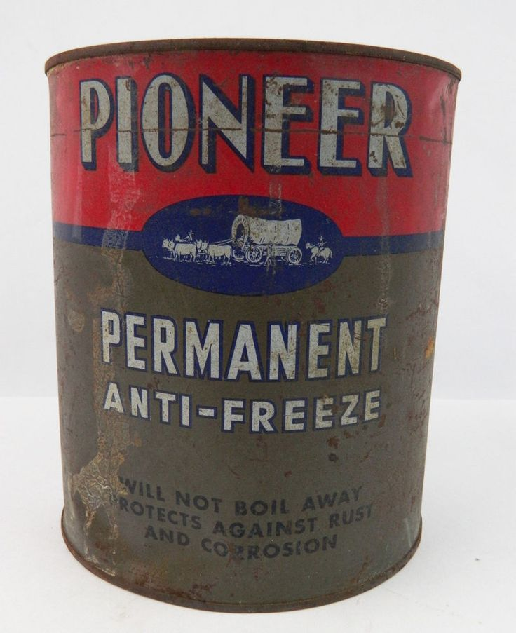 Vintage Pioneer Oil Co Philadelphia PA Anti-Freeze Metal Can Covered Wagon  | eBay