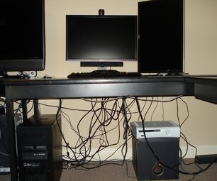 D.I.Y:  Computer Cable Management on the Cheap.  How to hide unsightly cords below your desk.