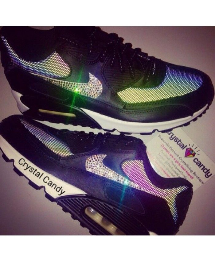 Nike Air Max 90 Candy Crystal Black Custom Shoes  c30bd18295