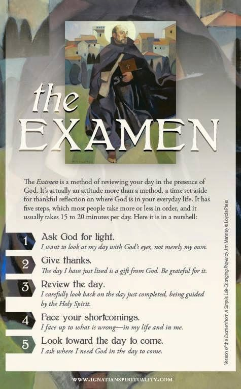 Association Of Catholic Women Bloggers: The Examen by Ignatius Loyola