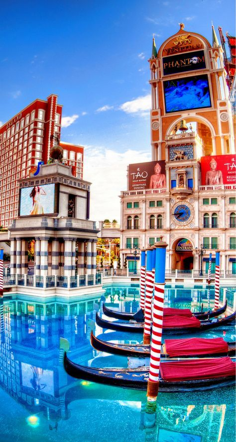 The Venetian hotel on the Las Vegas Strip! Whether you are visiting the Stratosphere, The Paris Hotel, or the Bellagio Fountains Las Vegas is one of the most exciting places in the world to visit! Check out these top things to do in Las Vegas!