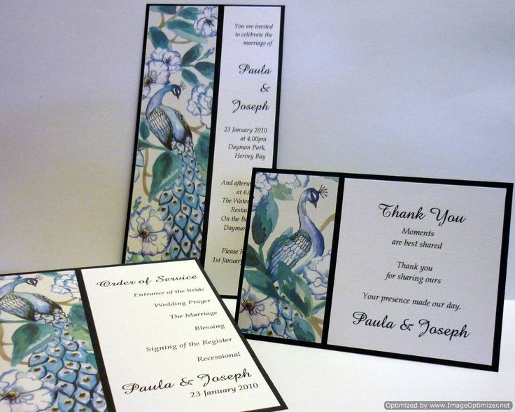 Simply Stunning Stationery - Peacock Palace