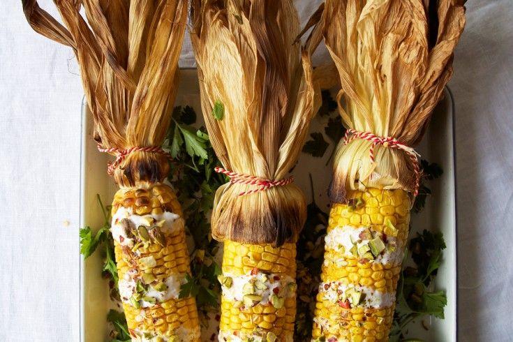 Geroosterde maïs op Mexicaanse wijze - Culy.nl