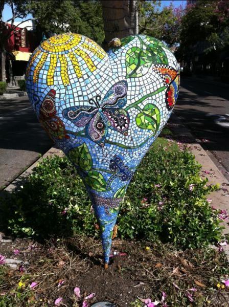 Mosaic heart art.