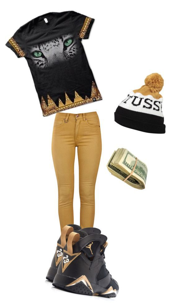 new style d7676 de753 Untitled  296 by ayoodope ❤ liked on Polyvore Jordan Outfits For Girls,  Jordan Shoes