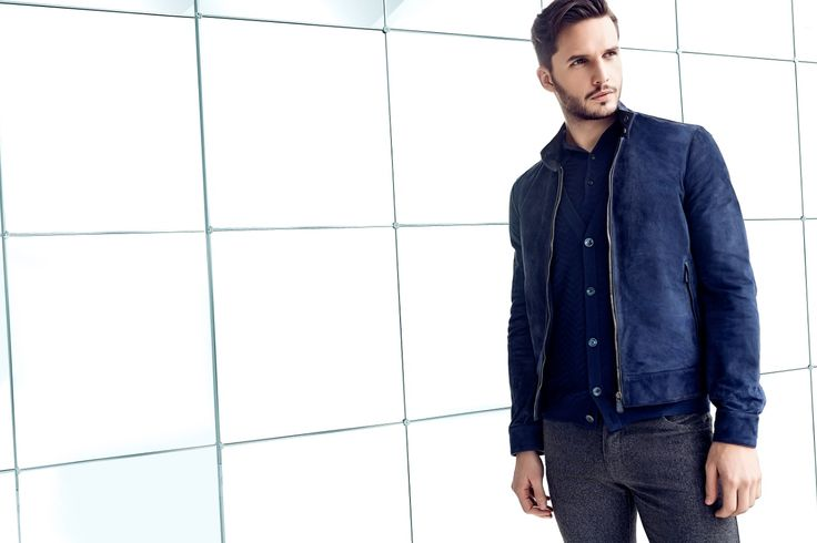 Larusmiani FW15/16 Look of the week: tailored blue shades
