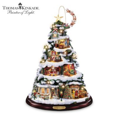 Thomas Kinkade Collapsible Christmas Tree