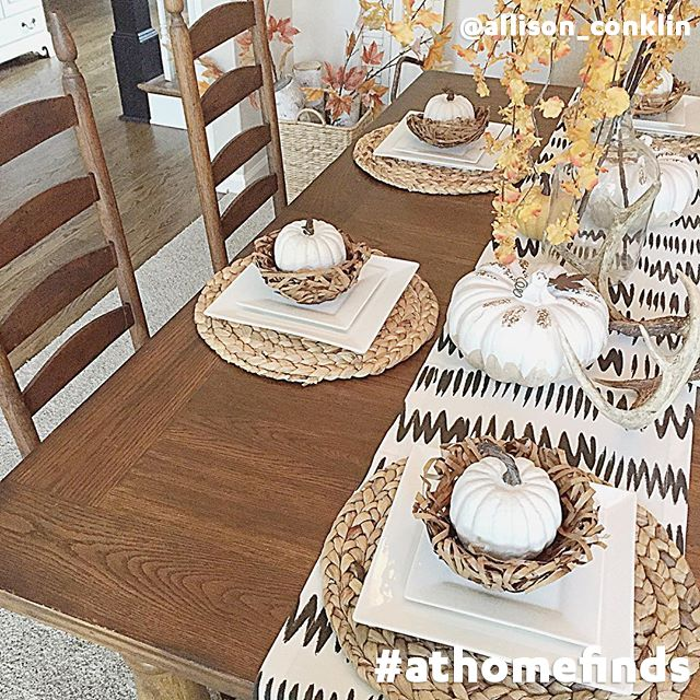 Our round basketwoven placemats add an authentic autumn touch to any dining room table fall - Dining room table mats ...