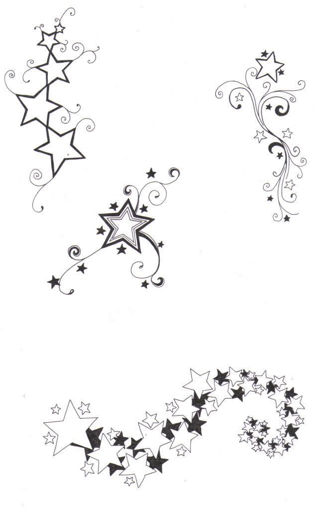 star based tattoos i drew.