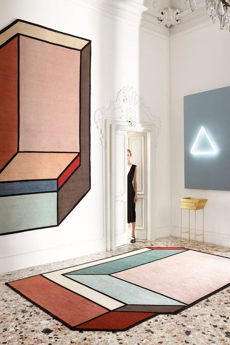 Best 25 geometric rug ideas on pinterest woven rug plastic each rug has an asymmetrical abstract silhouette with an architectural style to it baanklon Image collections
