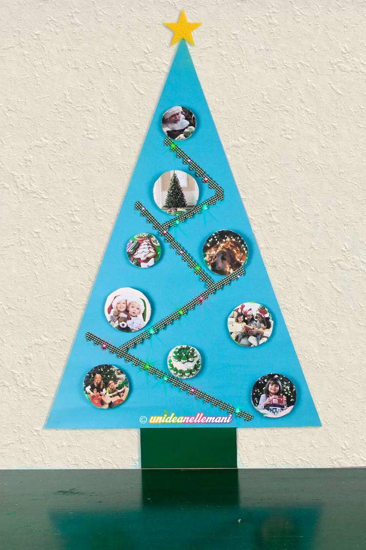 Tutorial con foto e spiegazioni per costruire un simpatico albero di Natale di carta per bambini da appendere al muro, con palle di cartone. Facile da fare