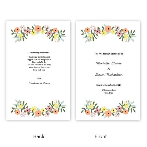 52 best Wedding Program Templates - DIY images on Pinterest - program templates word