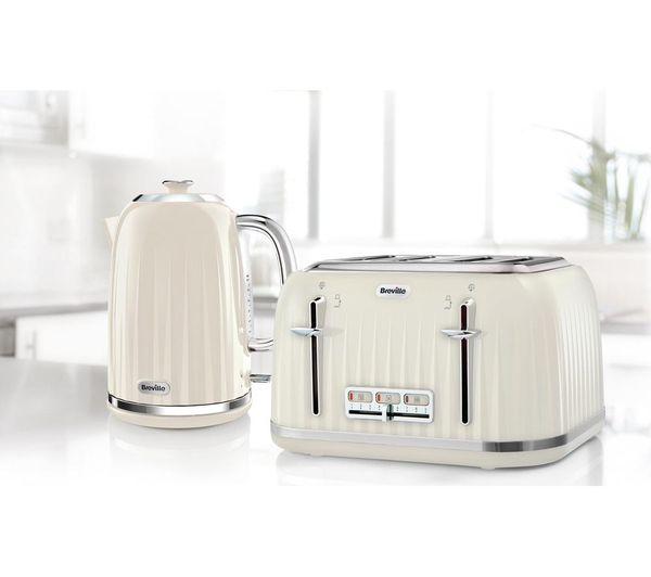 BREVILLE Impressions VKJ956 Jug Kettle – Vanilla Cream