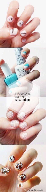 schlichte Maniküre kurze Nägel – die schönsten Nageldesign Ideen für kurze Nägel – kurze Nägel Design  #nageldesign #nagellack #nagelkunst #näg…