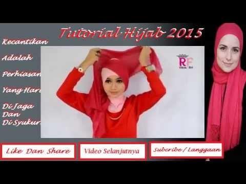 Tutorial Hijab 2015 ~ Cara memakai jilbab paris 2 warna by Citra Kirana ...
