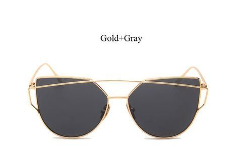 Mirrored Cat Eye Women's Fashion Sunglasses 2017 trend eyewear glasses fashion styles style cute cheap summer 2017 outfit cool trendy products shops websites buy online eyecat girl store shop for sale gold gray