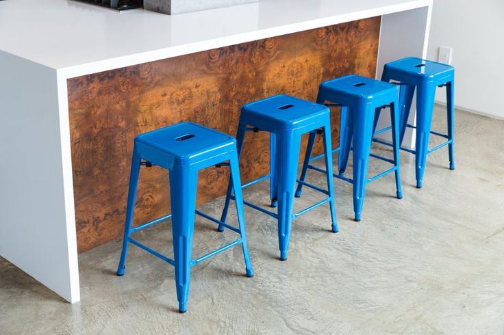 Have you taken a look at our beautiful bar stool collection?   Take a look right here: https://www.urbanmod.net/collections/stools/products/24-steel-counter-height-stool-blue-set-of-four