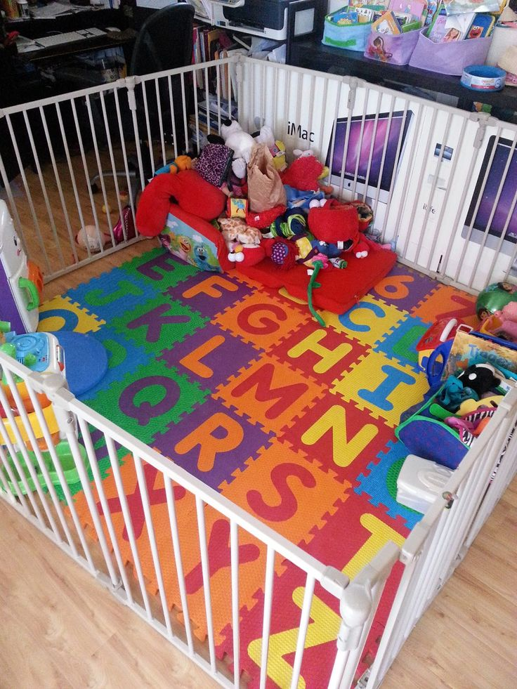 Anyone who is a parent knows that once you have children… the little people slowly take over the household. So in preparation of my daughter getting mobile, we needed to set up a play area. U…