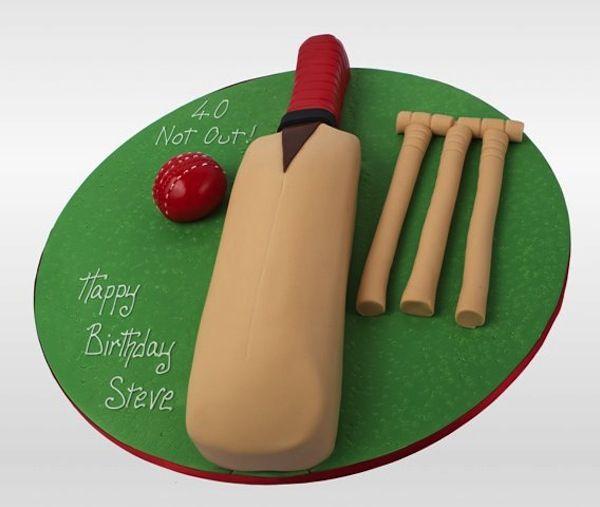 Cricket theme Birthday Party Cakes and Cupcakes - Cakes and Cupcakes Mumbai