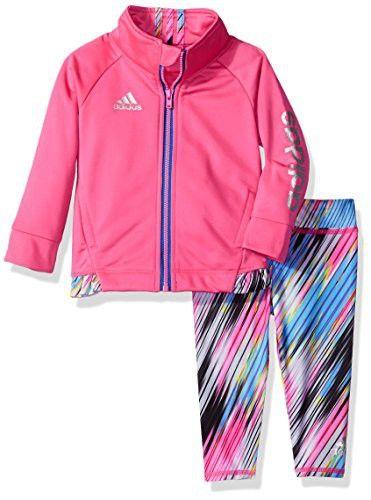 6e71f19f0 Adidas Baby Girls' Zip Jacket and Pant Set, Solar Pink, 6M | Kids ...
