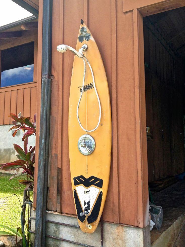 surfboard outdoor shower - Google Search