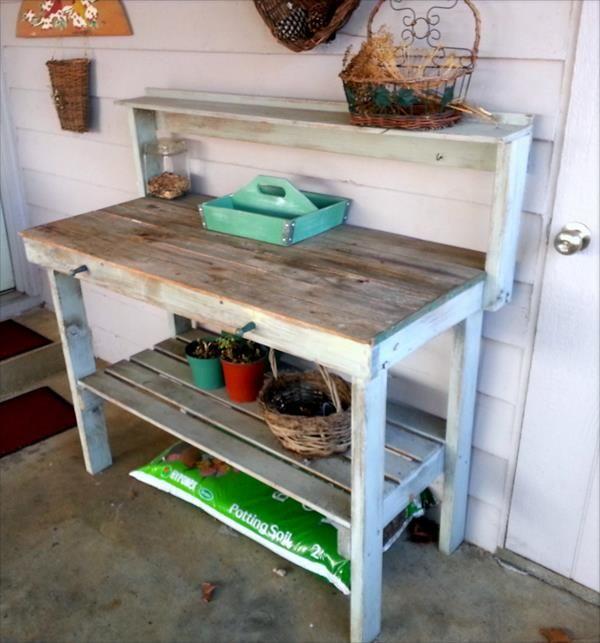Pallet Potting Bench | Pallet Furniture DIY