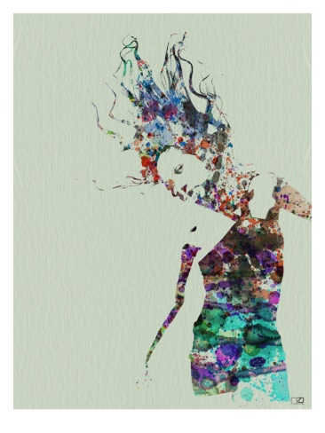 Dancer Watercolor 2 by Nax Art