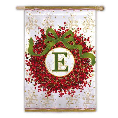 Found it at Wayfair - Holiday Monogram 2-Sided Garden Flag