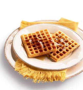 Crispy Cornmeal-Bacon Waffles