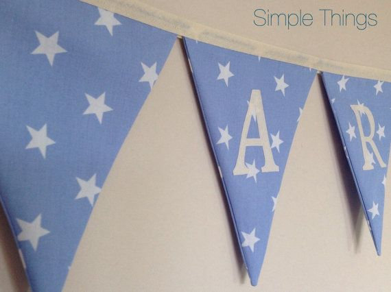 Hey, I found this really awesome Etsy listing at https://www.etsy.com/listing/218311597/blue-star-personalised-bunting-boy