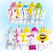LittleSpring bebê toalha de banho do bebê toalhas de banho crianças toalha com capuz animal print algodão envoltório de banho das crianças desgaste(China (Mainland))